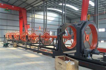 निर्माण को लागि सीएनसी इस्पात पिंजरे वेल्डिंग मिसिन इस्पात रोल सीवन welder उपयोग